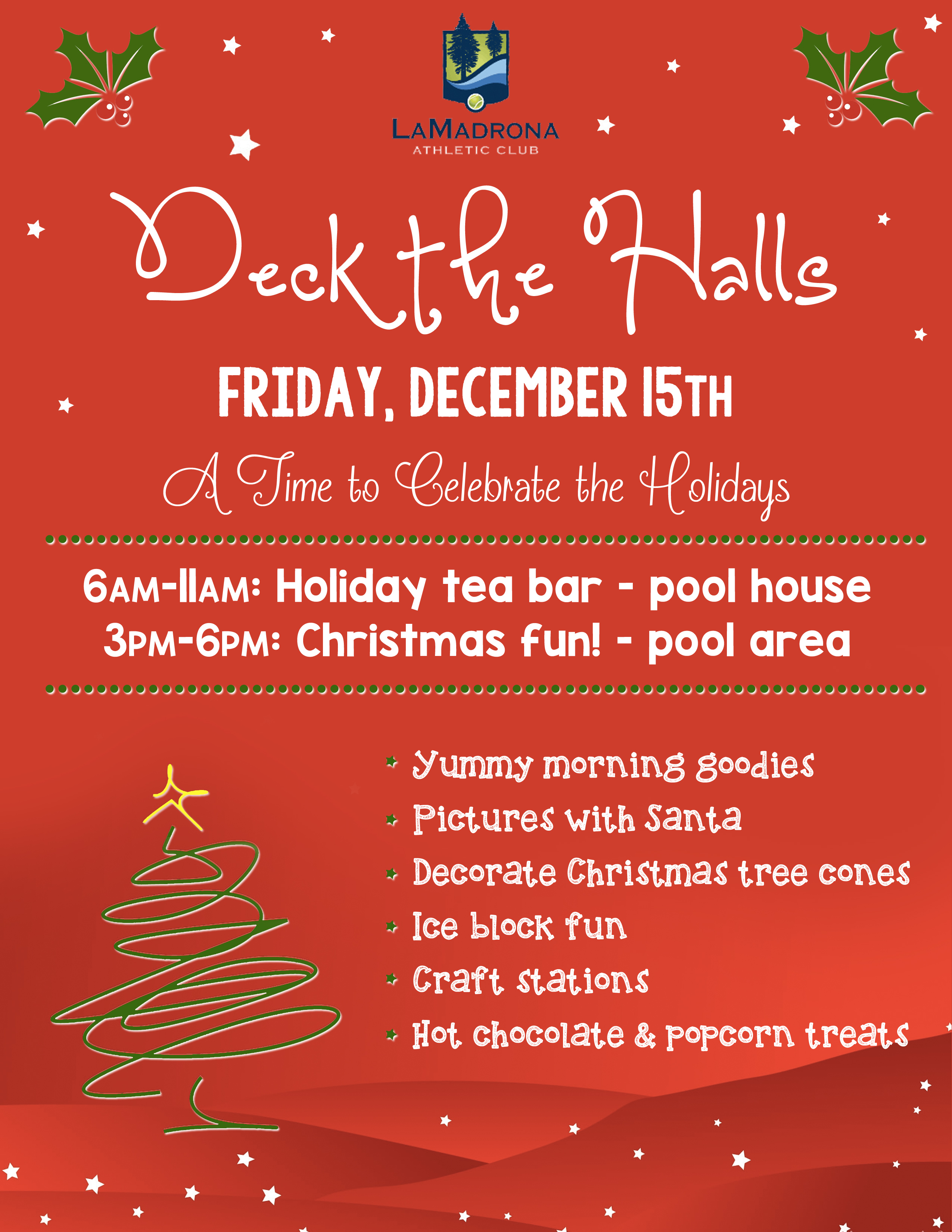 La madrona athletic club view announcement 1232017 december deck the halls event friday december 15th 1betcityfo Images